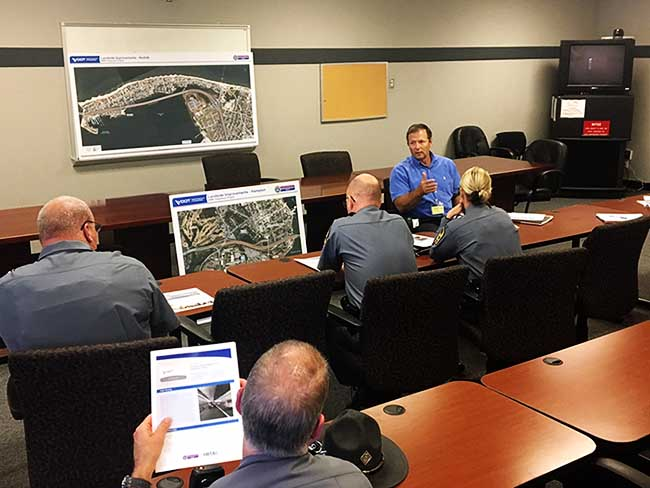 Jim Utterback Briefs the State Police on the HRBT Expansion on Oct. 3, 2018.